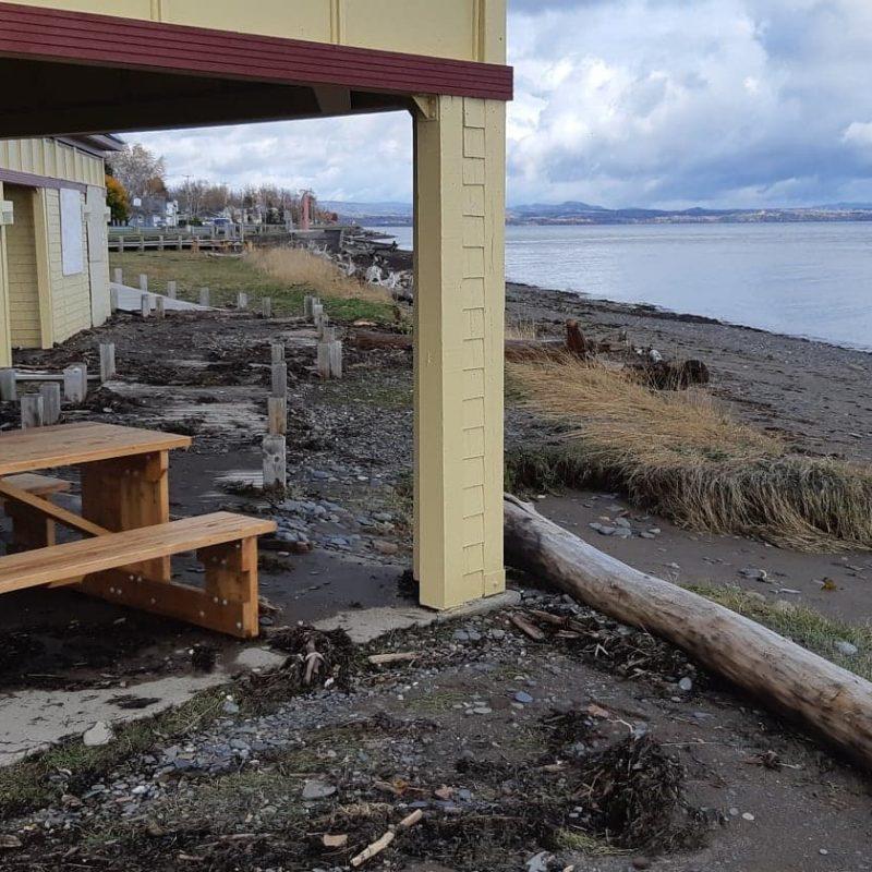 Érosion côtière à Maria, Gaspésie